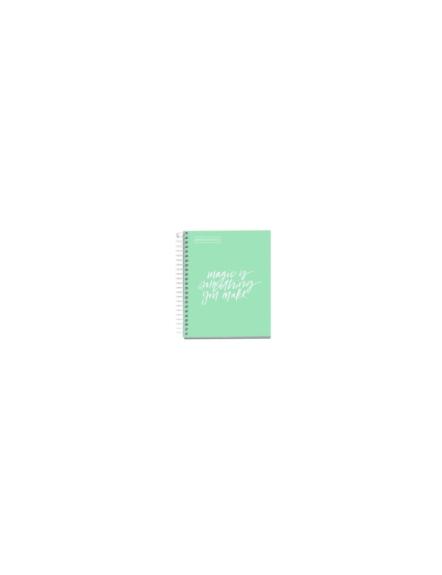 BLOC EMOTIONS MESSAGES NOTEBOOK 1 micro.tapa DURA A5 100h 90g CUADRIC.5x5 MENTA