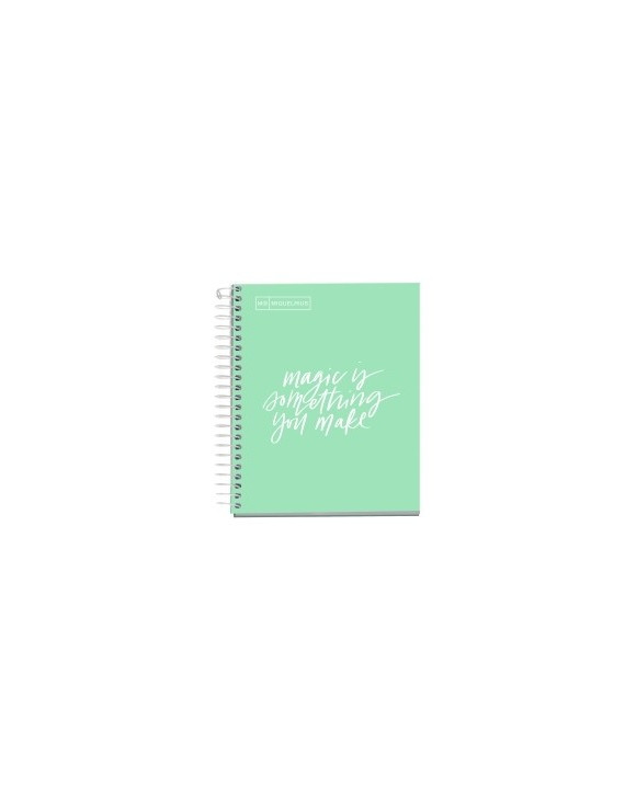 BLOC EMOTIONS MESSAGES NOTEBOOK 1 micro.tapa DURA A6 100h 90g CUADRIC.5x5 MENTA