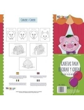 CARETA CART. 300gr. LOS 3 CERDITOS PACK