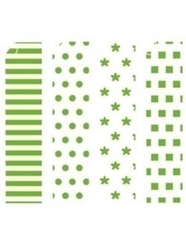 CARTULINA NIEFENVER IMPRESA 24x32 cm 180gr. VERDE-3 (4 mod.) BLISTER de 8