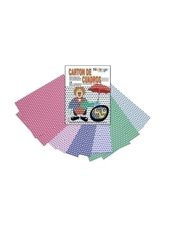 CARTULINA NIEFENVER IMPRESA 24x32cm. 300gr. CUADRO (6colores).PACK 12