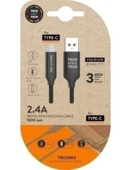 CABLE USB-C MULTI NEGRO 1 m.