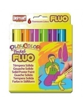 TEMPERA PLAYCOLOR FLUO ONE C/6