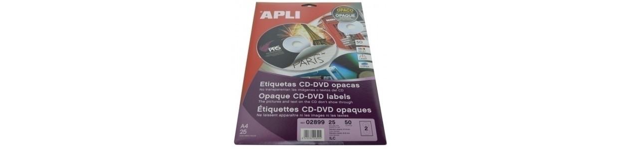 Etiquetas adhv. para impresora CD-DVD al mejor precio garantizado y Envio Gatis en 24h.