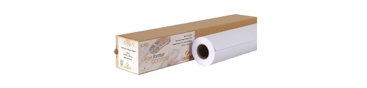 Papel para plotter CAD rollo al mejor precio garantizado y Envio Gatis en 24h.