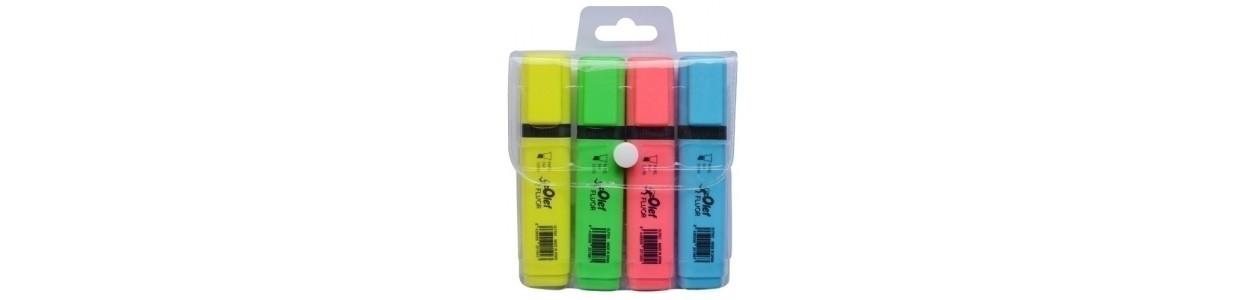 Marcadores flúor (tinta y gel) al mejor precio garantizado y Envio Gatis en 24h.
