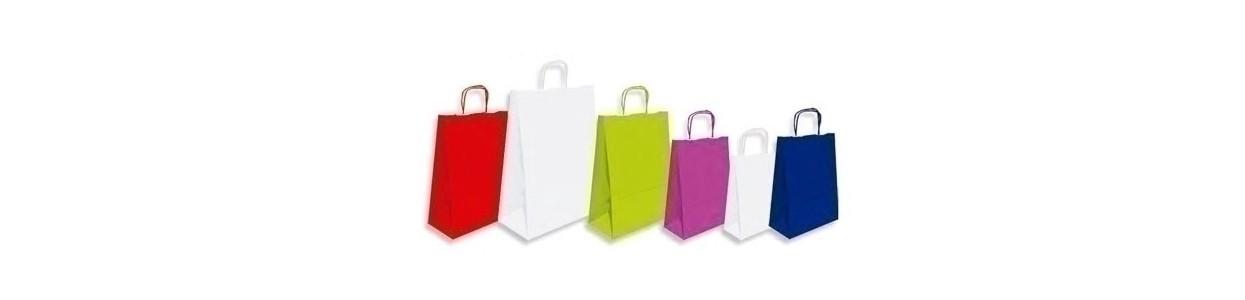 Bolsas de papel al mejor precio garantizado y Envio Gatis en 24h.