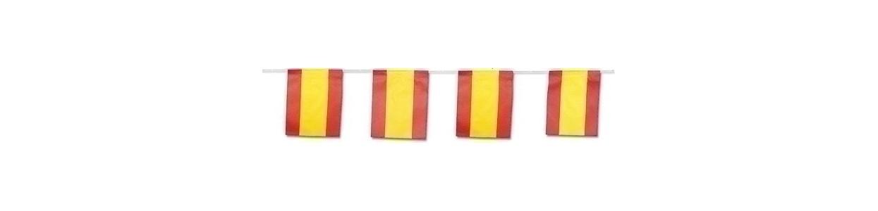 Banderas de papel y plástico al mejor precio garantizado y Envio Gatis en 24h.